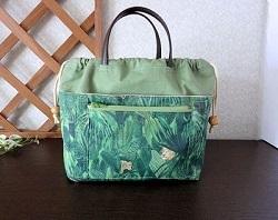 巾着式バッグインバッグジャングル・タペストリー6.JPG